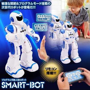 スマートボット ブルー 人型ロボット プログラム可能 ジェスチャ制御 手振り 多機能 ダンス ソング SMARTBOT-BL