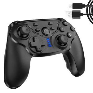 Switch コントローラー 無線 Nintendo Bluetooth接続 ジャイロ HD振動 連射機能搭載 高耐久ボタン  SMACON01|kasimaw