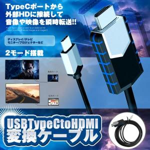USB Type C to HDMI 変換ケーブル ポート 2m 4k 高画質 ディスプレイ モニター ビデオ テレビ USHENKAN|kasimaw