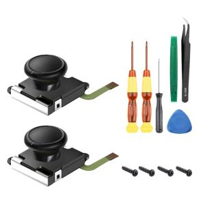 Joy-con対応 witch コントロール 右 左 センサーアナログジョイスティック 交換用 2個 キャップ付き ニンテンドースイッチ L Rセンサー コントロール MA-388|kasimaw|05