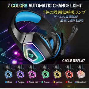 ゲーミングヘッドセット Hunterspider V1 PS4 PC ニンテンドースイッチ タブレット ゲーム用 高音質 ノイズキャンセリング Nintendo Switch など対応 HS-V1-BL kasimaw 04