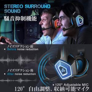 ゲーミングヘッドセット Hunterspider V1 PS4 PC ニンテンドースイッチ タブレット ゲーム用 高音質 ノイズキャンセリング Nintendo Switch など対応 HS-V1-BL kasimaw 06