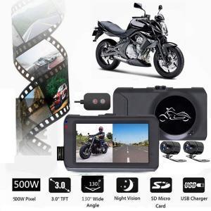 ドライブレコーダー バイク用 前後カメラ 3インチ液晶 1080P 防水 500万画素 130°広角 BAISSGG kasimaw