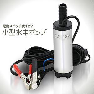 12V小型 水中ポンプ 電動スイッチ式 ワニクリップ クランプ 給油 灯油 給水 淡水 船舶 水槽 汚水 汲み上げ 排水 電源12V KOSUIPP|kasimaw