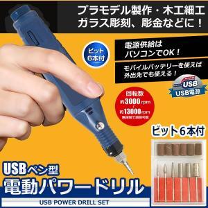 USB ペン型 電動 パワードリル 高速13000回転/分 6種先端ビット 木工細工 プラモデル 強力 ビールーター 無段階スピード調節 彫金 研磨 切削 SA-2202|kasimaw