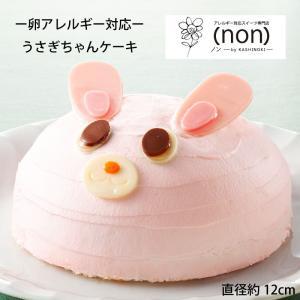 【卵アレルギー対応アニマルケーキーうさぎー】 卵アレルギー対応  ケーキ  菓子 アレルギー対応ケーキ スイーツ 誕生日 プレゼント 贈り物 ギフト|kasinoki