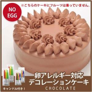 【卵アレルギー対応チョコデコレーションケーキ】 卵アレルギー対応  ケーキ  菓子 アレルギー対応ケーキ スイーツ 誕生日 プレゼント 贈り物|kasinoki