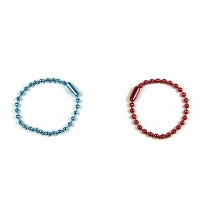 ボールチェーン 直径2.3mm×約10cm コネクタ付 ブルー・レッド|kasugado
