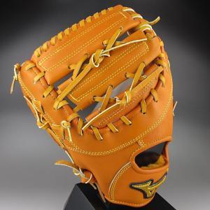ミズノ MIZUNO 一般硬式一塁手用 ミット 左投げ ミズノプロ スピードドライブテクノロジー 1AJFH12100(54H)オレンジ|kasukawa