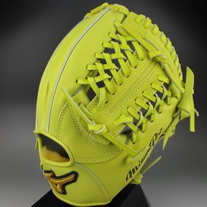2015年 K-KLUB限定 ミズノプロスピードドライブテクノロジー 一般硬式内野手用4/6 1AJGH12003 40:ナチュラルライム 右投げ|kasukawa
