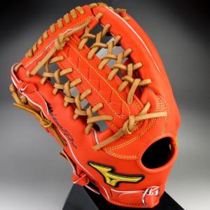 2015年 ミズノプロスピードドライブテクノロジー 一般硬式外野手用 1AJGH12107 52H:スプレンディッドオレンジ 左投げ|kasukawa