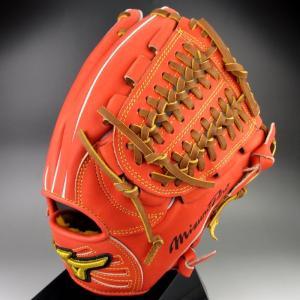 2015年秋冬限定モデル ミズノプロプロフェッショナル 一般硬式内野手用 銀次型 1AJGH13303 52:スプレンディッドオレンジ 右投げ|kasukawa