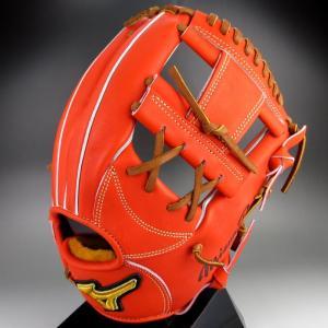 2016年 秋冬 BSSショップ限定 ミズノ MIZUNO 一般硬式内野手用 4/6 右投げ  ミズノプロ スピードドライブテクノロジー 1AJGH14053(52X)Sオレンジ