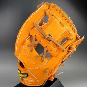 2019年モデル BSSショップ限定 ミズノ 一般硬式内野手用 右投げ ミズノプロ フィンガーコアテクノロジー 坂本モデル 1AJGH20213 (542)ビターオレンジ|kasukawa