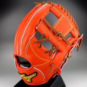 2016年 秋冬 BSSショップ限定 ミズノ MIZUNO 一般軟式内野手用4/6 右投げ ミズノプロ スピードドライブテクノロジー 1AJGR14053(52)Sオレンジ kasukawa