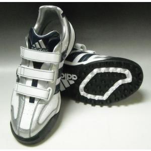 2010年秋冬モデル アディダス adidas JP トレーナーIII トレーニングシューズ G24018 ランニングホワイト×カレッジネイビー×メタリックシルバー