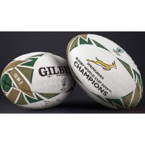 1月中旬以降出荷予定 GILBERT ギルバート 2019年ラグビーワールドカップ チャンピオンズ記念ボールレプリカボール 5号球 GB9018
