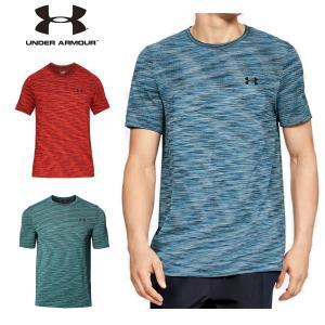 UAバニッシュシームレスショートスリーブ トレーニング Tシャツ メンズ ランニング アンダーアーマー kasukawa