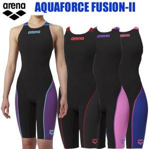 アリーナFINA承認モデル アクアフォースフュージョン2 レディース競泳水着 ハーフスパッツ(クロスバック)19SSA  swim7|kasukawa