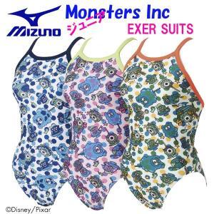 fbbaad35eaa ミズノスイム ジュニア トレーニング水着 ミディアムカット Monsters Inc N2MA8981 swim7 18FWM 練習用 ディズニー  Disney