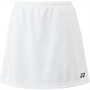 Yonex(ヨネックス) ガールズ テニスウェア ジュニアスカート インナースパッツ付 ホワイト|カスカワスポーツ