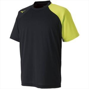 MIZUNO ミズノ Tシャツ 93:ブラック×ライムグリーン カスカワスポーツ