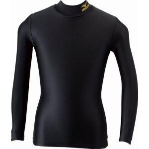 ミズノ MIZUNO バイオギアシャツ(ジュニアハイネック長袖) 98:ブラック×ゴールド (A35BS25098)|kasukawa