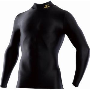 ミズノ MIZUNO バイオギアシャツ(ハイネック長袖) 98:ブラック×ゴールド (A60BS25098)|kasukawa