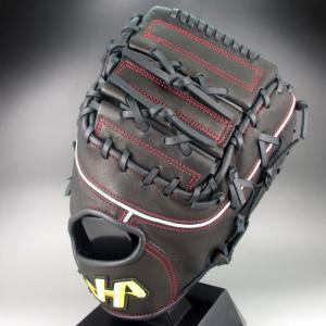 2017年モデル ハタケヤマ HATAKEYAMA 一般軟式一塁手用 右投げ TH SERIES TH-381B(ブラック) kasukawa