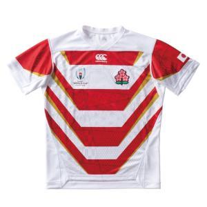 ラグビー日本代表新ジャージ。 伝統の赤と白を基調としたファーストジャージ。 ラグビーワールドカップ2...