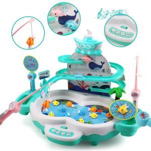 魚釣りゲーム 釣り おもちゃ 磁気釣り フィッシング 水遊び お風呂 流れる水 プール 室内遊び 誕生日 クリスマス プレゼント 子供用 男の子 女の子