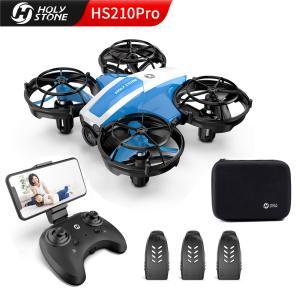 【収納バッグ付き】 Holy Stone ドローン カメラ付き 小型 室内 子供向け 収納ケース付き バッテリー3個 高度維持 マルチコプター 宙返り 国内認証済み HS210Pro