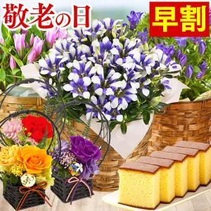 母の日ギフト 2018 お花と長崎カステラセット 花とスイー...