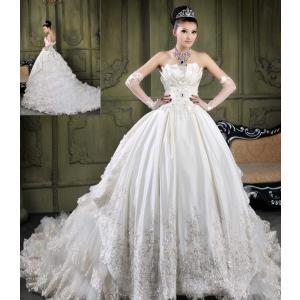 ウェディングドレス 高級感たっぷりのふんわりタイプ プリンセスライン wd801