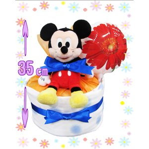 バルーン付き パンパース 1段 おむつケーキ ディズニー タ...