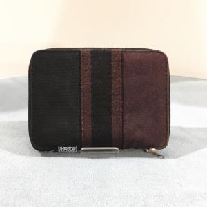 エルメス フールトゥ ファスナー財布 パースPM パープル×黒|kataoka78