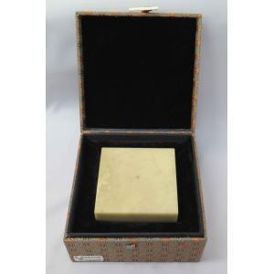 QJ-7.5 極品青田印章・展覧会用サイズ(特製印盒付)7.5×H4.5cm(1本/箱)|kato-trading2