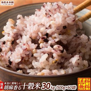 雑穀 雑穀米 国産 胡麻香る十穀米 30kg(500g×60袋) 送料無料 ダイエット食品 置き換えダイエット 雑穀米本舗|katochanhonpo