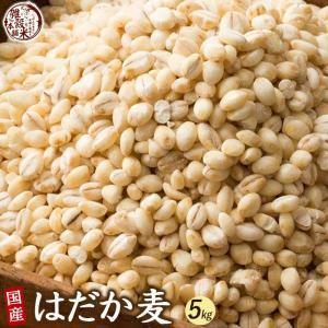 雑穀 麦 国産 はだか麦 5kg(500g×10袋) 厳選 裸麦 六条大麦 送料無料 ダイエット食品 置き換えダイエット 雑穀米本舗|katochanhonpo