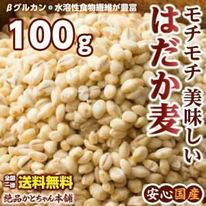 絶品 裸麦 100g 最小お試しサイズ 厳選国産 はだか麦 六条大麦 送料無料 ポスト投函|katochanhonpo