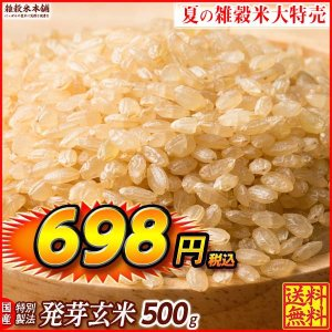雑穀 発芽玄米 500g 最高級 国産 定番サイズ 送料無料|katochanhonpo