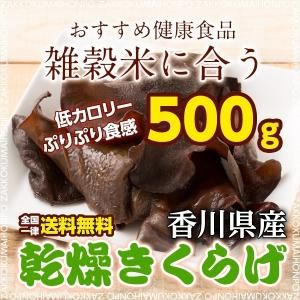 絶品感謝還元祭 乾燥きくらげ 500g 香川県産 きくらげ 木耳 無添加 キクラゲ 送料無料 ポスト投函|katochanhonpo