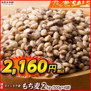 米 雑穀 麦 国産 もち麦(中粒) 2kg(500g x4袋) 送料無料 高品質 厳選 ダイシモチ 腸内環境 脂肪激減 ダイエット プレミアム SALE|katochanhonpo