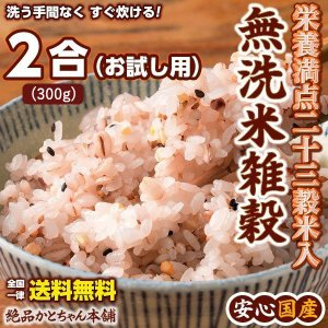 絶品 無洗米雑穀2合分 (約320g) 厳選国産栄養満点23穀米入 お試しサイズ 送料無料 ポスト投函|katochanhonpo