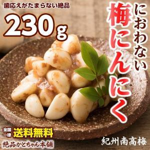 グルメ 漬け物 激旨 梅にんにく 全く臭わない 元気の源 230g 送料無料 雑穀米本舗|katochanhonpo