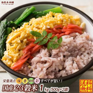 絶品 栄養満点23穀米 1kg(500g x2袋) 人気サイズ 厳選国産 送料無料 ポスト投函|katochanhonpo