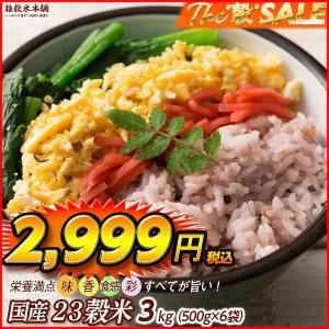 絶品 栄養満点23穀米 3kg (500g x 6袋) 徳用サイズ 厳選国産 送料無料 ポスト投函|katochanhonpo