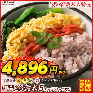 米 雑穀 雑穀米 国産 栄養満点23穀米 5kg(500g x10袋) 送料無料 国内産 もち麦 黒米 プレミアム SALE|katochanhonpo