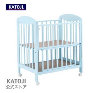 ベビーベッド|ミニベビーベッド プチブルー KATOJI ( カトージ )「 ハイタイプ 」|katoji