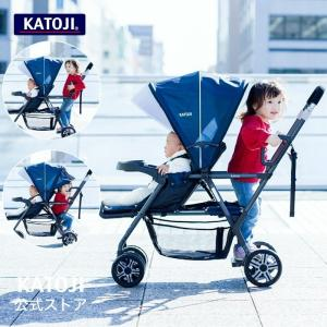 KATOJI ベビーカー 二人でゴー (ネイビー) バギー 二人乗り 双子 兄弟 姉妹 2人乗り  ...